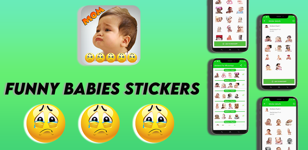 Funny Babies Stickers/Funny Stickers/Baby Stickers screenshot 6
