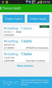Tennis Math  score keeper and statistics tracker 1