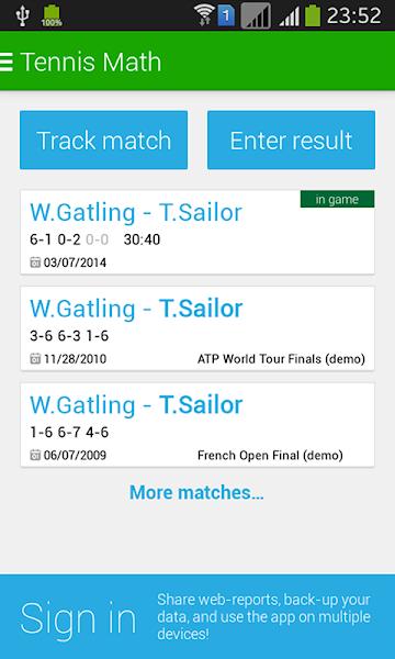 Tennis Math: score keeper and statistics tracker