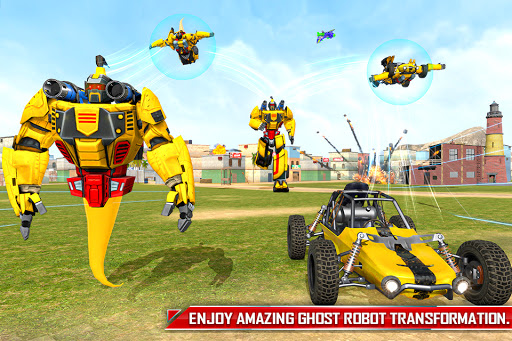 Flying Ghost Robot Car Game apkpoly screenshots 5