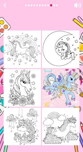 Unicorn Coloring Book ud83eudd84 2.2 screenshots 9