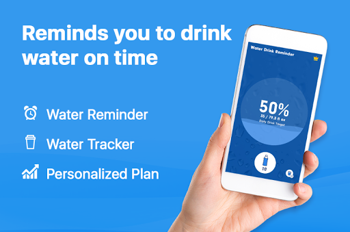 WaterBy: Water Drink Tracker Reminder & Alarm 1.7.2 Screenshots 1