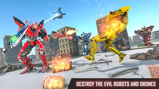 Mega Robot Games: Flying Car Robot Transform Games modavailable screenshots 19