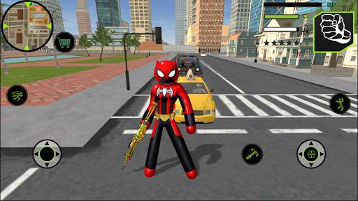 Bat Spider Stickman Rope Hero Vegas Gangstar Crime Screenshot 1
