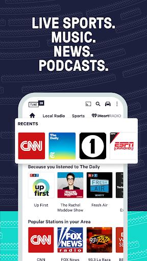 TuneIn Radio: News, Sports & AM FM Music Stations screenshots 2