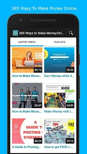 365 Ways to Make Money Online 💸 PASSIVE INCOME 💸 3.3 Android Mod + APK + Data 1