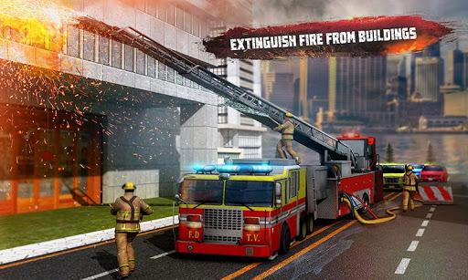 ud83dude92 Rescue Fire Truck Simulator: 911 City Rescue  screenshots 4