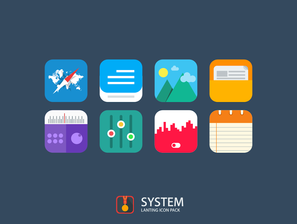 Lanting Icon Pack: Material and Colorful poster 8