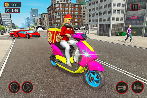 Moto Bike Pizza Delivery – Girl Food Game  screenshots 1