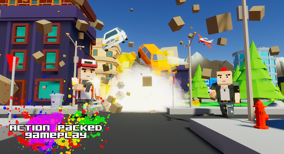 Gangster && Mafia Block City Dude Theft Pixel Car MOD APK 1.09 (Unlimited Money) 4