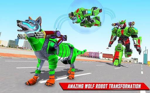 Loup Robot Jeux-Robot Transforming Jeux de voiture APK MOD (Astuce) screenshots 3