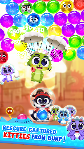 Space Cats Pop - Kitty Bubble Pop Games apkmr screenshots 23