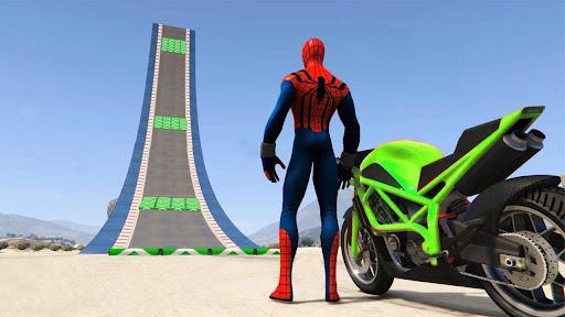 Superhero Tricky Bike Stunt GT Racing  screenshots 1
