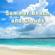 Beautiful Wallpaper Summer Beach and Clouds Theme