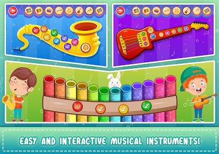 Kids Piano: Animal Sounds & musical Instruments 4