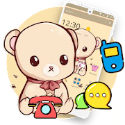 Yellow Cartoon Cute Bear Theme
