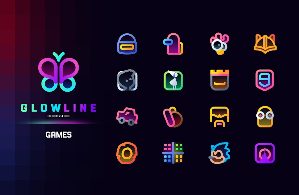 GlowLine Icon Pack  poster 6