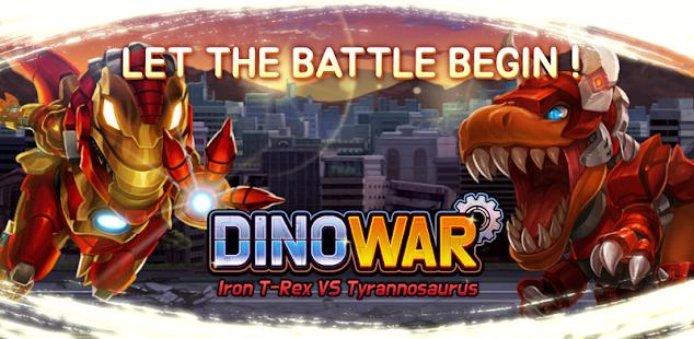 Dino War Iron T-Rex VS Tyranno 0.2.4 screenshots 1