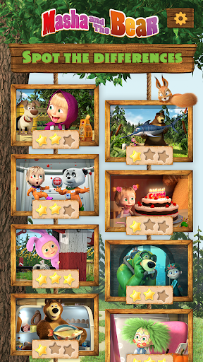 Masha and the Bear - Spot the differences  screenshots 10