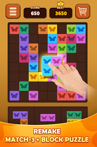 Triple Butterfly: Match 3 combine Block Puzzle apklade screenshots 1