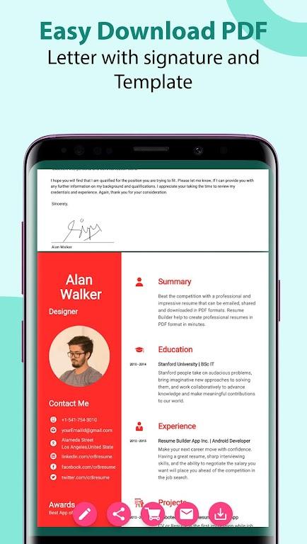 Resume Builder & CV Maker - PDF Template Editor  poster 7