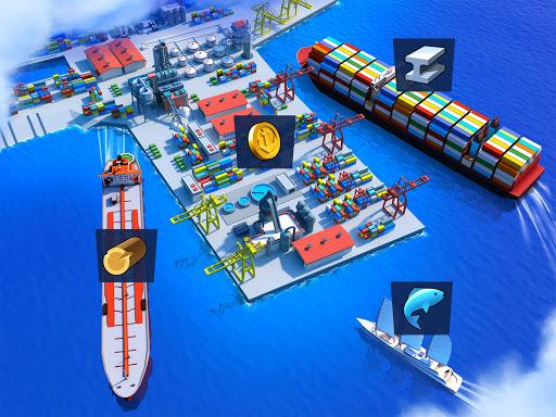 Sea Port: Cargo Ship & Town Build Tycoon Strategy 1.0.153 screenshots 3