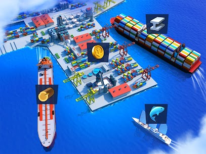 Sea Port Mod Apk 1.0.156 Ship Transport Tycoon & Business Game Download Free 3