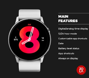 Hybrid Red Watch Face 2
