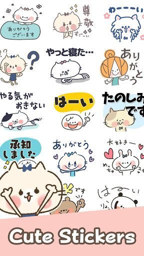 Cute Cat Stickers apktram screenshots 1