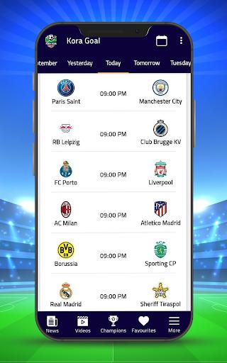 Kora Goal - Sports Live Scores screenshots 1