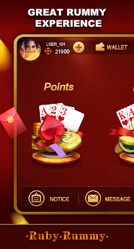 Ruby Rummy-Indian Online Free Card Game 1.0.5 Screenshots 1