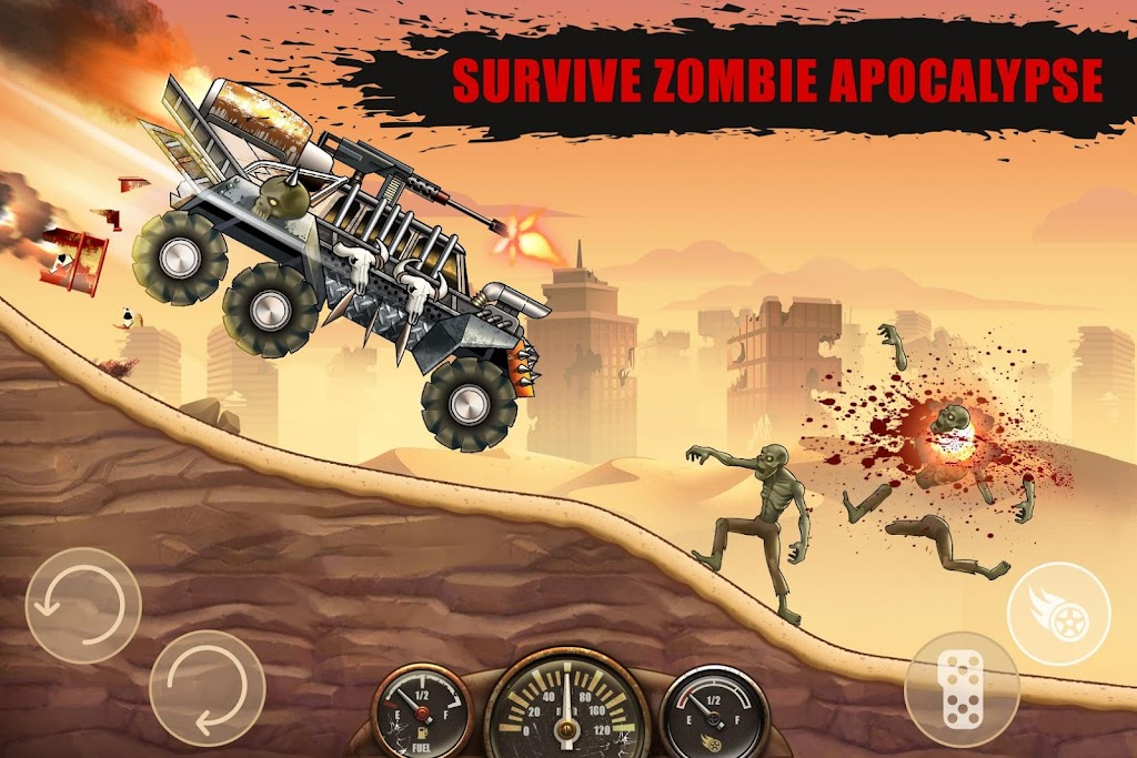 Zombie Hill Racing - Earn To Climb: Zombie Games poster 1