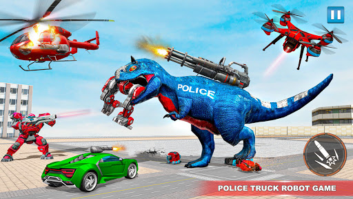Police Truck Robot Game u2013 Dino Robot Car Games 3d  Screenshots 14