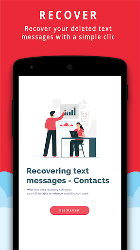 Text Messages Recovery - Contacts backup 5.1 screenshots 1