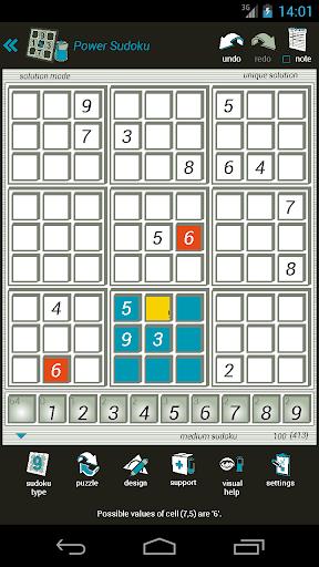 power sudoku screenshot 2