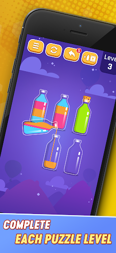 Perfect Pouring - Color Sorting Puzzle Game android2mod screenshots 1