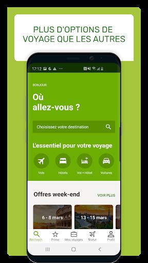 Go Voyages: Ru00e9server des vols et voyages pas chers 4.206.0 Screenshots 2