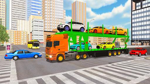 Code Triche Jeux transporteur de voiture: Jeux de camions APK MOD (Astuce) screenshots 5
