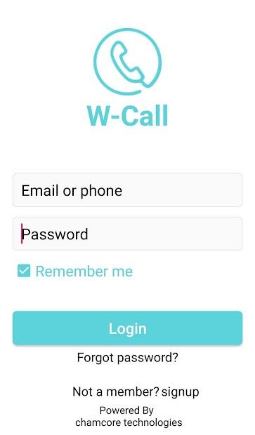 Captura 2 de W-Call para android