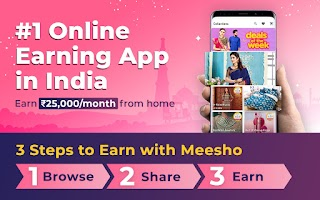 screenshot of Meesho - Resell, Work From Home, Earn Money Online