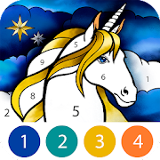 Unicorn Color by Number