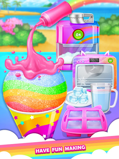 Unicorn Rainbow Snow Cone Desserts Maker screenshots 2