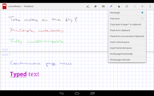 LectureNotes Screenshot