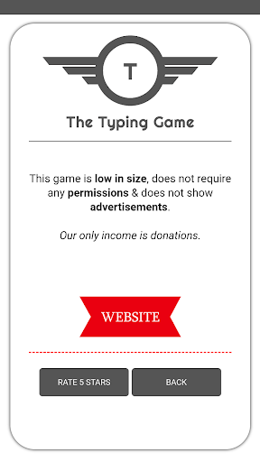 The Typing Game 1.7.4 screenshots 2