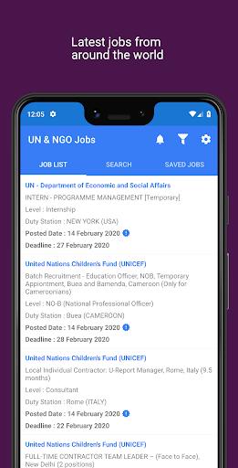 un & ngo jobs screenshot 1