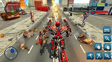 Ramp Car Robot Transforming Game: Robot Car Games