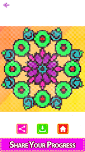 Adult Color by Number Book - Cross Stitch Mandala