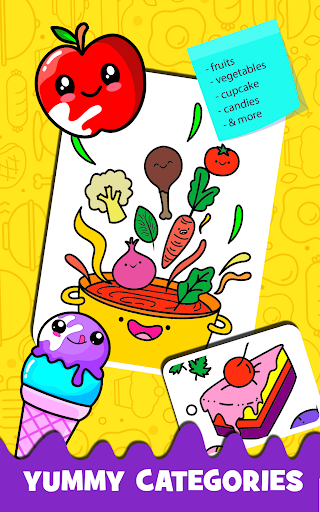 Fruits Coloring book & Food Drawing book Kids Free modavailable screenshots 17
