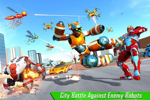 Mosquito Robot Car Game - Transforming Robot Games 1.0.8 screenshots 3