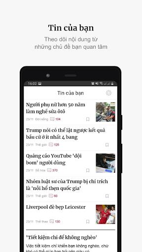 VnExpress - Tin tu1ee9c 24h  Screenshots 2